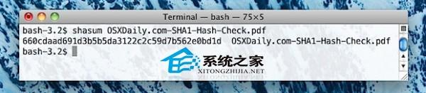 Mac OS X如何校验文件的SHA1值